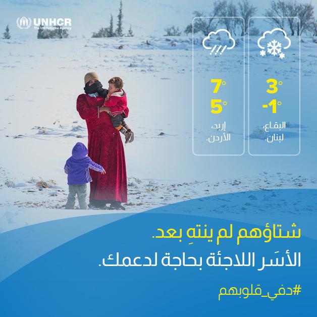 الثلوج تحاصر اللاجئين: نحتاج لأيادي الخير